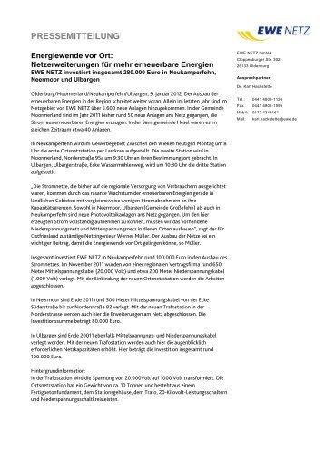 PDF, 23,24 KB - EWE NETZ GmbH