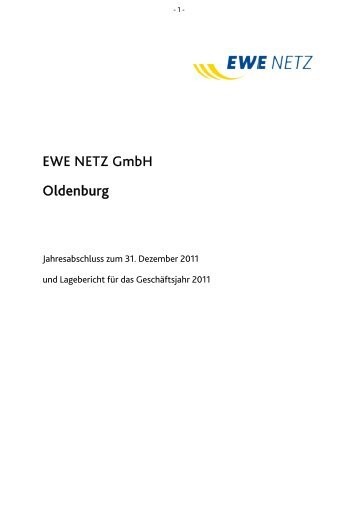 Jahresabschluss nach HGB - EWE NETZ GmbH