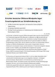 91 kB Errichter deutscher Offshore-Windparks legen ... - EWE AG
