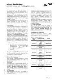 Leistungsbeschreibung EWE Multi Connect LWL