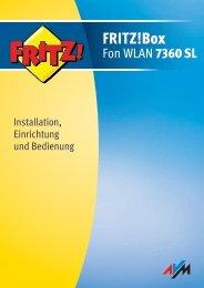 FRITZ!Box Fon WLAN 7360 SL - Osnatel