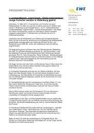 Die EWE Pressemitteilung vom 13. März 2010 zur ... - EWE AG