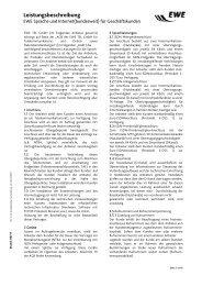Leistungsbeschreibung Sprache und Internet - EWE AG