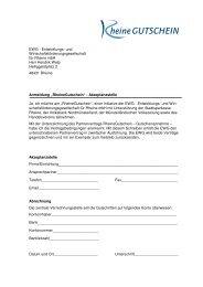 Partnervertrag inkl. Anmeldebogen - EWG – Entwicklungs
