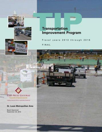 FY 2013-2016 Transportation Improvement Program - East-West ...