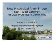 New Mississippi River Bridge - East-West Gateway Coordinating ...