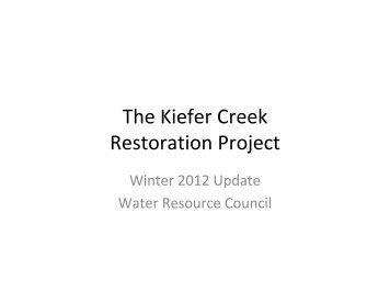 The Kiefer Creek Restoration Project