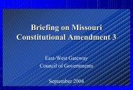 Amendment 3 - East-West Gateway Coordinating Council