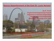 Source Apportionment of the East St. Louis Aerosol