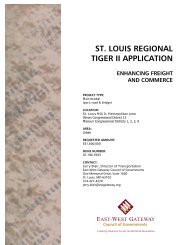 st. louis regional tiger ii application enhancing freight and commerce