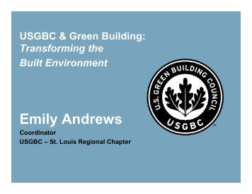 USGBC & Green Building - Transforming the Built Environment