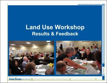 Land Use Workshop Survey Results and Travel Way Evaluation