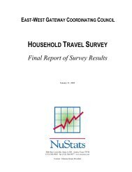 Final Report of Survey Results - East-West Gateway Coordinating ...