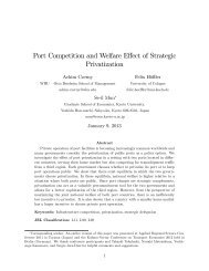 Port Competition and Welfare Effect of Strategic Privatization