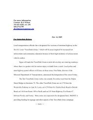 Current Press Release - East-West Gateway Coordinating Council