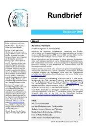 Rundbrief Dezember 2010 [pdf] - Eine Welt Netzwerk Hamburg eV