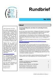 Rundbrief Mai 2010 [pdf] - Eine Welt Netzwerk Hamburg eV