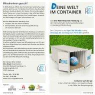 EINE WELT IM CONTAINER - Eine Welt Netzwerk Hamburg eV