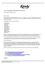 June 14: Kandy Magazine Red Carpet Swimsuit Issue ... - Eworldwire