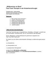 Fast Track Chirurgie - Asklepios Kinderklinik Sankt Augustin