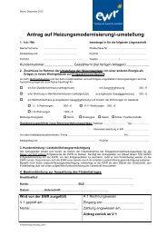 Antrag auf Förderung einer Erdgas-Brennwertanlage - EWR GmbH