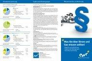 Wissenswertes zur Rechnung mit Stand November 2012 - EWR GmbH