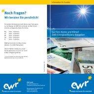Energieeffizienz-Ratgeber - EWR GmbH