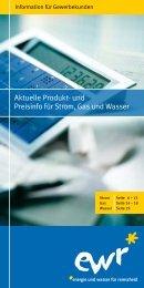 Aktuelle Produkt- und Preisinfo für Strom, Gas und ... - EWR GmbH
