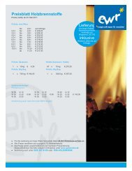 Preisblatt Holzbrennstoffe - EWR GmbH