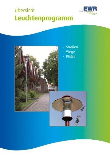 Übersicht: Straßen, Wege, Plätze! - EWR Netz GmbH