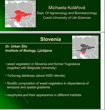 Weed surveys in Czech Republic, Slovenia, Slovakia and Austria ...
