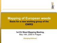 EWRS Scientific Committee (SciCom) - year 2008 - European Weed ...