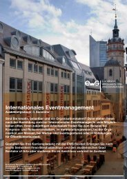 Internationales Eventmanagement - EWS Leipzig