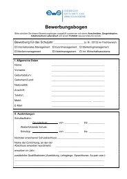 Bewerbungsbogen - EWS Leipzig