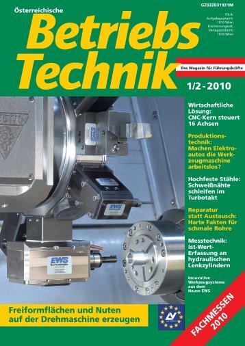 Innovative Werkzeugtechnologie erschienen in ... - EWS