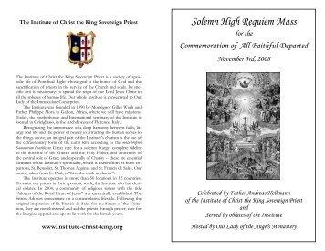 Solemn High Requiem Mass - EWTN.com