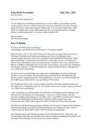 Newsletter _9_11 - Eine Welt Zentrum Herne