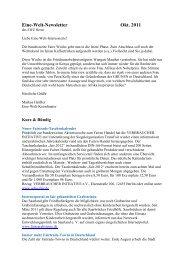 Newsletter _8_11 - Eine Welt Zentrum Herne