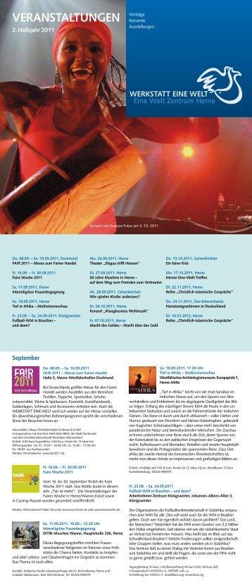 unser Veranstaltungsprogramm im 2. Halbjahr 2011 - Eine Welt ...