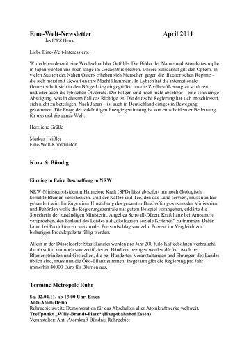 Newsletter _4_11 - Eine Welt Zentrum Herne