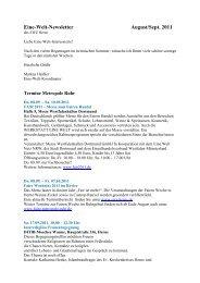 Newsletter _6_11 - Eine Welt Zentrum Herne