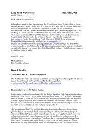 Newsletter _5_11 - Eine Welt Zentrum Herne