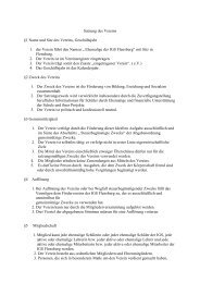 Satzung des Vereins §1 Name und Sitz des Vereins, Geschäftsjahr ...