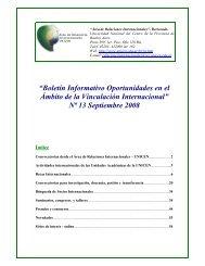 Boletin Informativo en el Ambito de la Vinculacion Internacional Nº ...