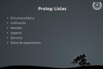 Prolog: Listas