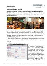 Pressemitteilung Erfolgreiche Drupa für Printplus