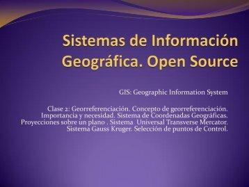 Taller de Sistemas de Información Geográfica
