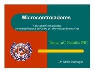 Microcontroladores - Facultad de Ciencias Exactas - Universidad ...
