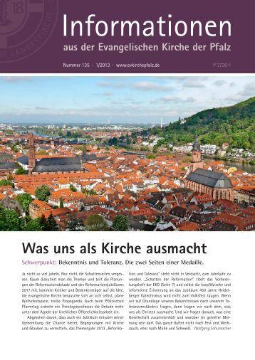 Informationen Nr. 135 - 1/2013 (PDF, 5.79 MB) - Evangelische ...