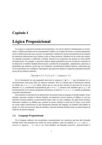 Apuntes de Lógica Matemática